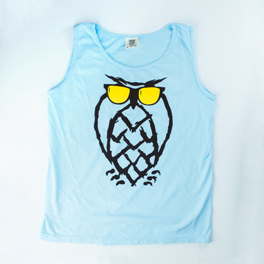 Sunnies Owl Tank-Top - Chambray Blue