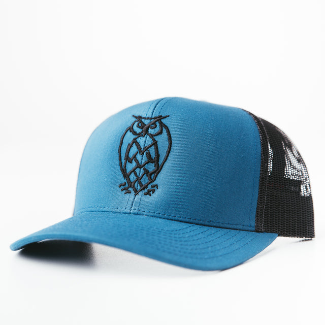 NSB Trucker Hat - Ocean Blue/Black Mesh