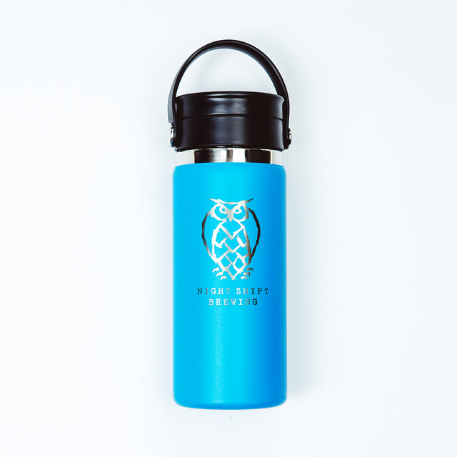 NSB Logo Hydro Flask - 16oz - Pacific Blue