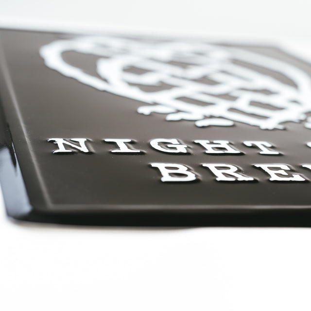 Night Shift Brewing Tin Tacker - Black & White