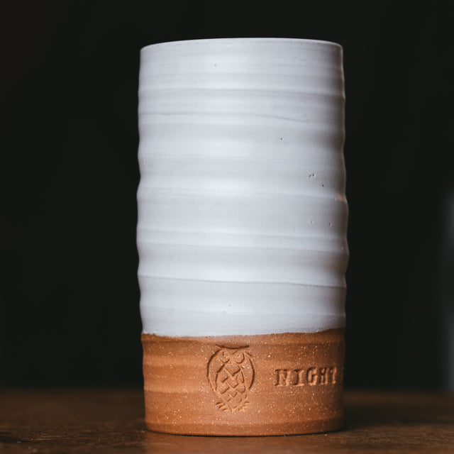 Handmade Night Shift Tumbler: White