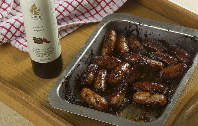 CHILLI AND HONEY STICKY GLAZED COCKTAIL SAUSAGES