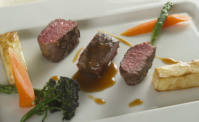 Lamb loin with rich lamb gravy recipe