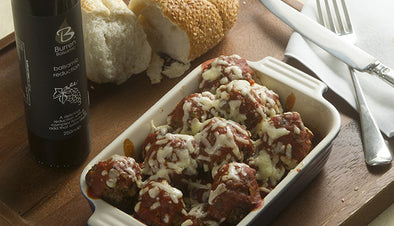 MEATBALLS, CRUSHED TOMATO AND BALSAMIC SAUCE