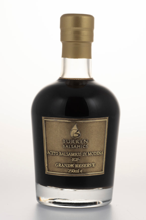 Burrren Balsamics  Grande Reserve.  Super High Density Balsamic Vinegar of Modena