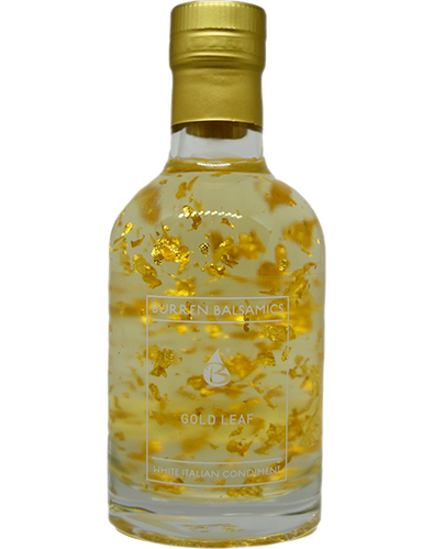 gold leaf white balsamic vinegar