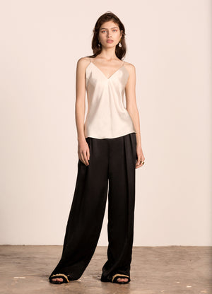 Milla Pleated Pants Ivory
