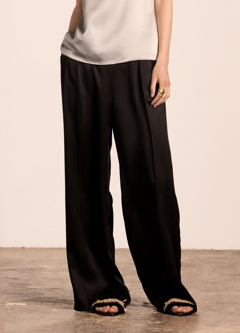 Milla Pleated Pants Black