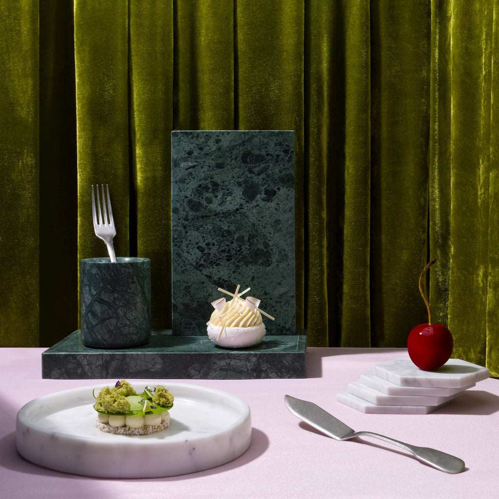 Green Marble Kitchen: Comme Home