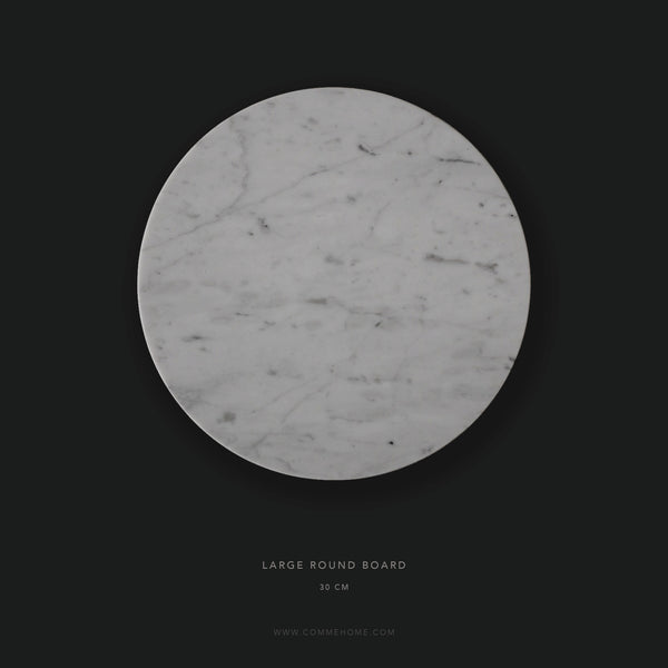 (SAMPLE) White Round Marble Board (Large)