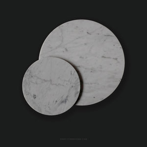 White Round Marble Board (Large)