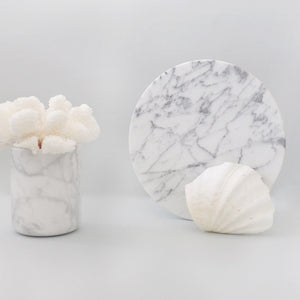 White Round Marble Board (Small)