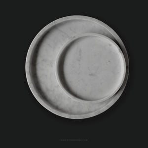 White Round Marble Tray (Large)