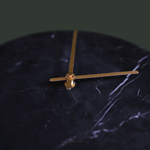 (SAMPLE) Marble Clock Black