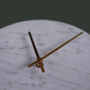 (SAMPLE) Marble Clock White