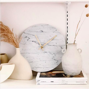 Marble Clock White