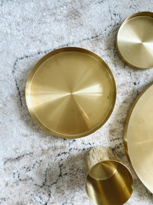 (DISPLAY SAMPLE) Brass Tray Large