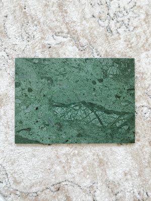 (DISPLAY SAMPLE) Green Rectangular Marble Board (Large)