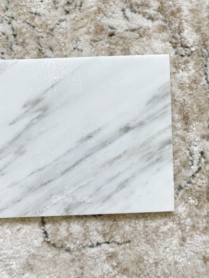 (DISPLAY SAMPLE) White Rectangular Marble Board(New Small)