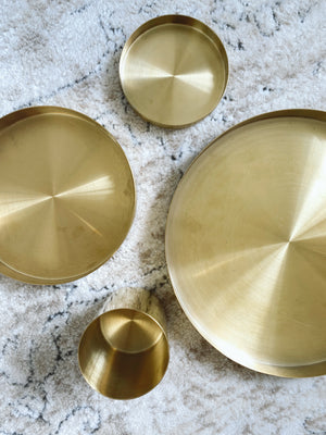 (DISPLAY SAMPLE) Brass Tray Small