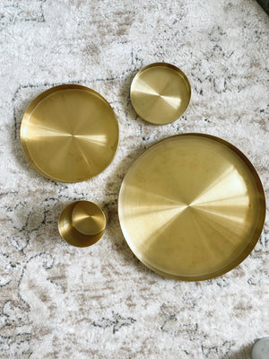 (DISPLAY SAMPLE) Brass Tray Medium