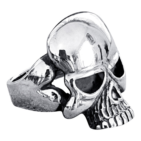 Chinless Grin Silver Skull Ring
