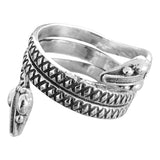 Double Headed Silver Snake Ring