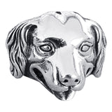 Silver Dog Ring