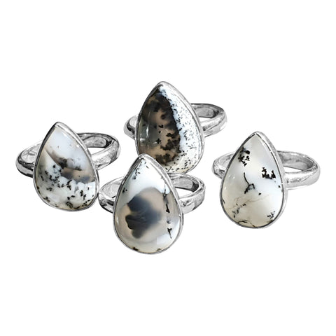 Merlinite Teardrop Rings