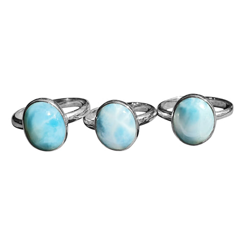 Larimar Oval Rings