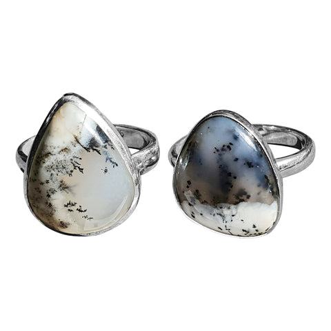 Broad Merlinite Teardrop Ring