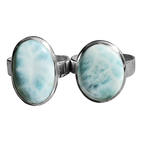 Larimar wide band rings
