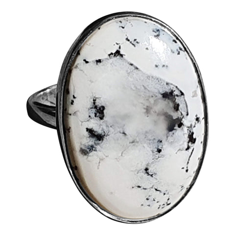 Merlinite Dendritic Pattern Ring
