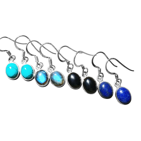 Ovoid Cabochon Earrings