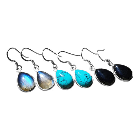 Droplet  Cabochon  Earrings