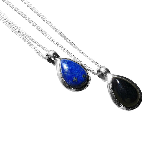 Teardrop Pendant with Chain