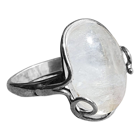Moonstone Scroll Ring