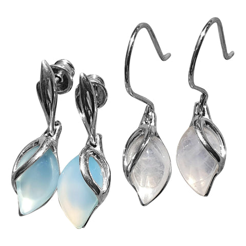 Raindrop Earrings in Silver