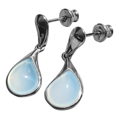 Droplet Aqua Agate Earrings