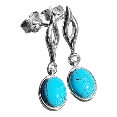 Turquoise Accented Drop Earrings