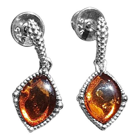 Mottled Amber Earrings