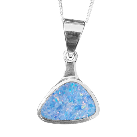 Blue Matrix Opal with Chain