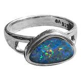 Wide Band Opal Rings