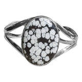 Snowflake Obsidian Bangle