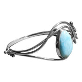 Larimar Art Nouveau Bangle