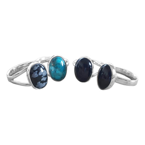 Silver Illusion  Gemstone Ring