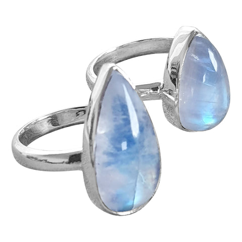 Icy Blue Moonstone  Rings