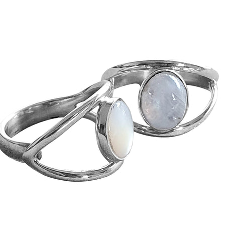 Double Band Gemstone Ring