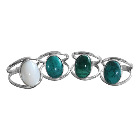 Broad Silver Eye Ring