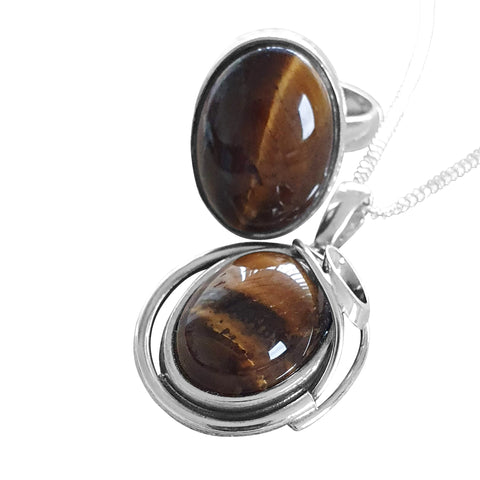 Tiger`s Eye Pendant and Ring Set